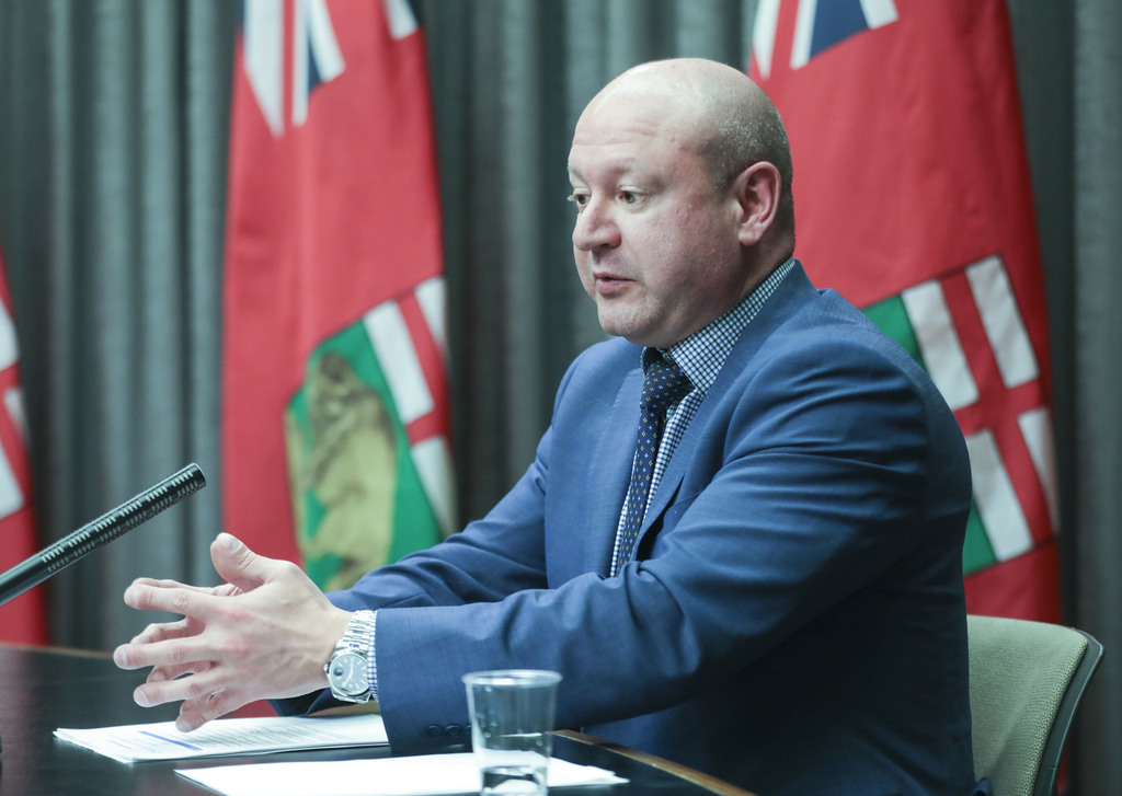 Dr. Brent Roussin, the province's chief public health officer, said the number of cases will likely rise when restrictions are loosened, but didn't reveal how fast cases would have to rise to reinstate controls. (Ruth Bonneville / Winnipeg Free Press files)