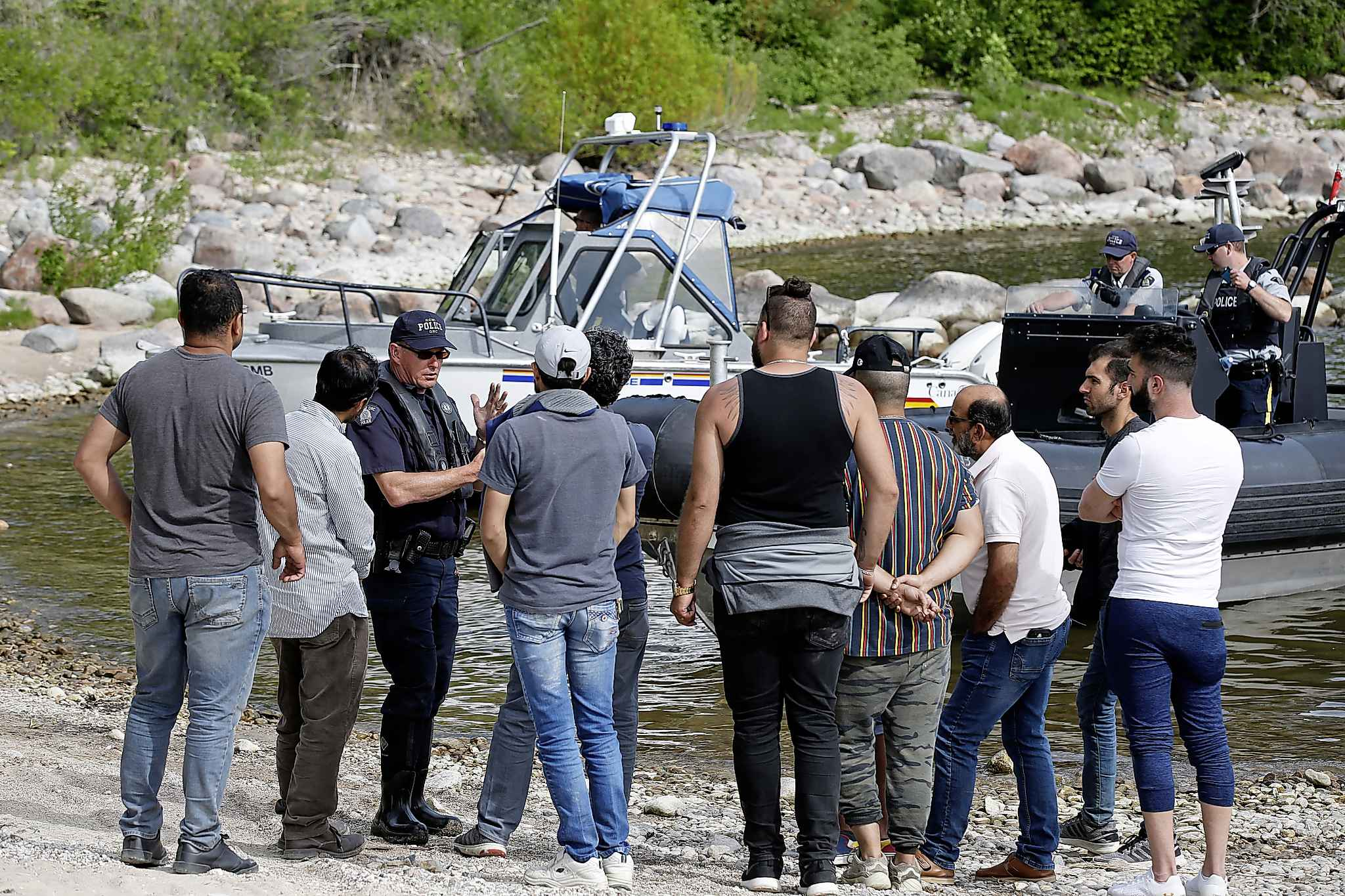Members of the Kurdish community and family await answers from the RCMP after they searched for Ali. (John Woods / Winnipeg Free Press)</p>