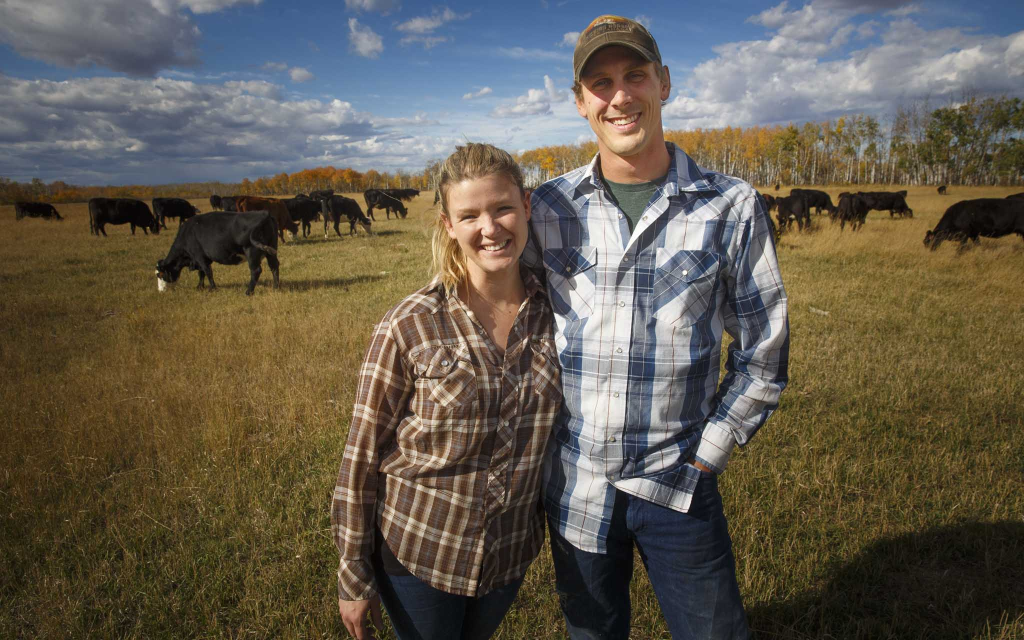 81 per cent of the province's more than 400,000 beef cattle live on cow-calf operations like Kristine and Graham Tapley's Old Shore.