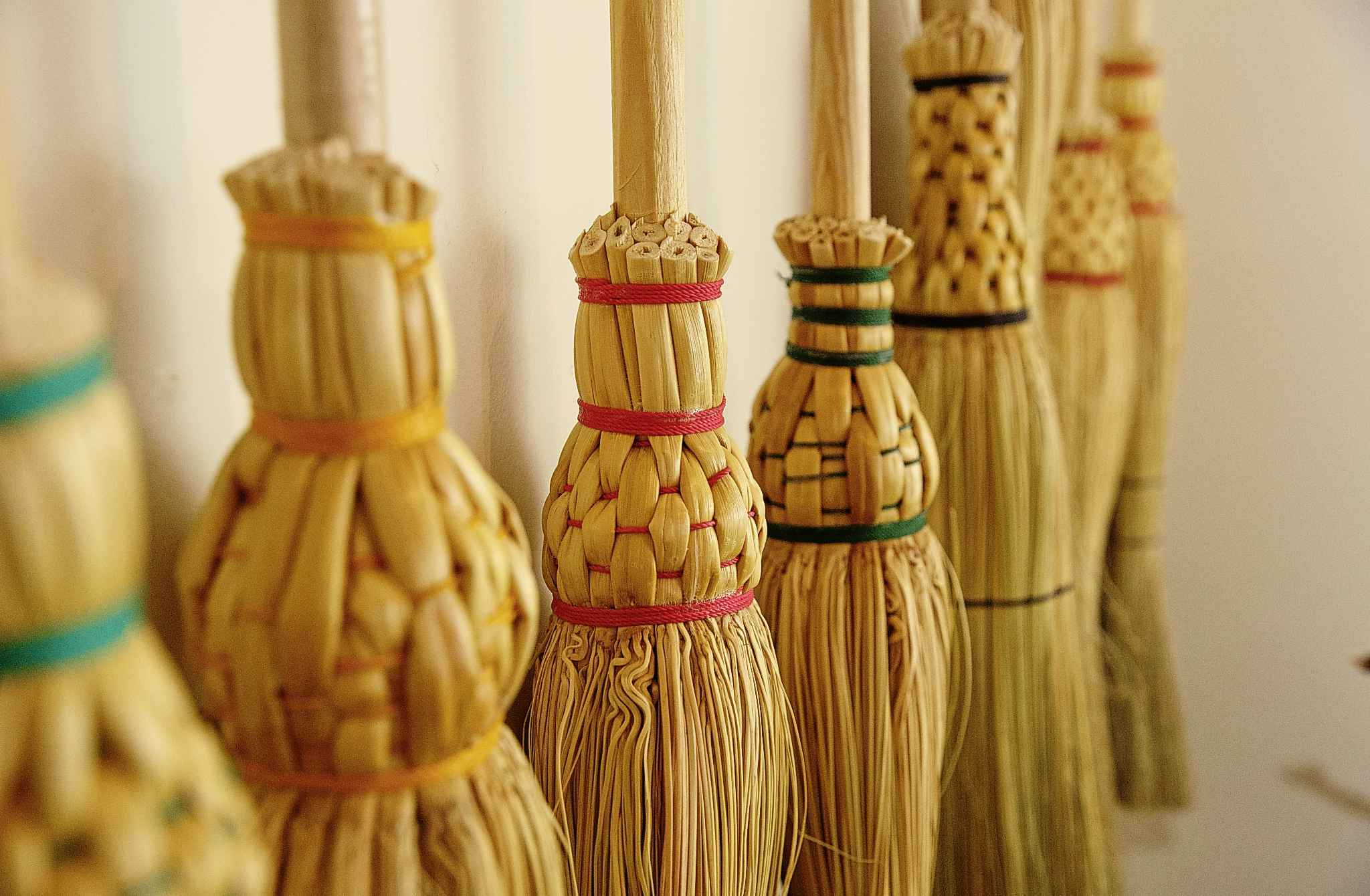 Haswell makes 32 varieties of brooms in her Wolseley-area home.</p>