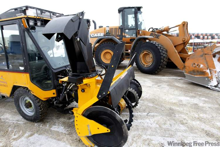City of Winnipeg Public Works Dept. snow clearing equipment.