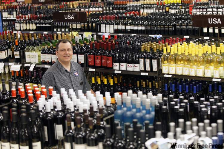 Karl Hasse, store manager of the Liquor Mart at Grant Park Shopping Centre, says the store's employees are looking  forward to moving into newer, larger quarters.