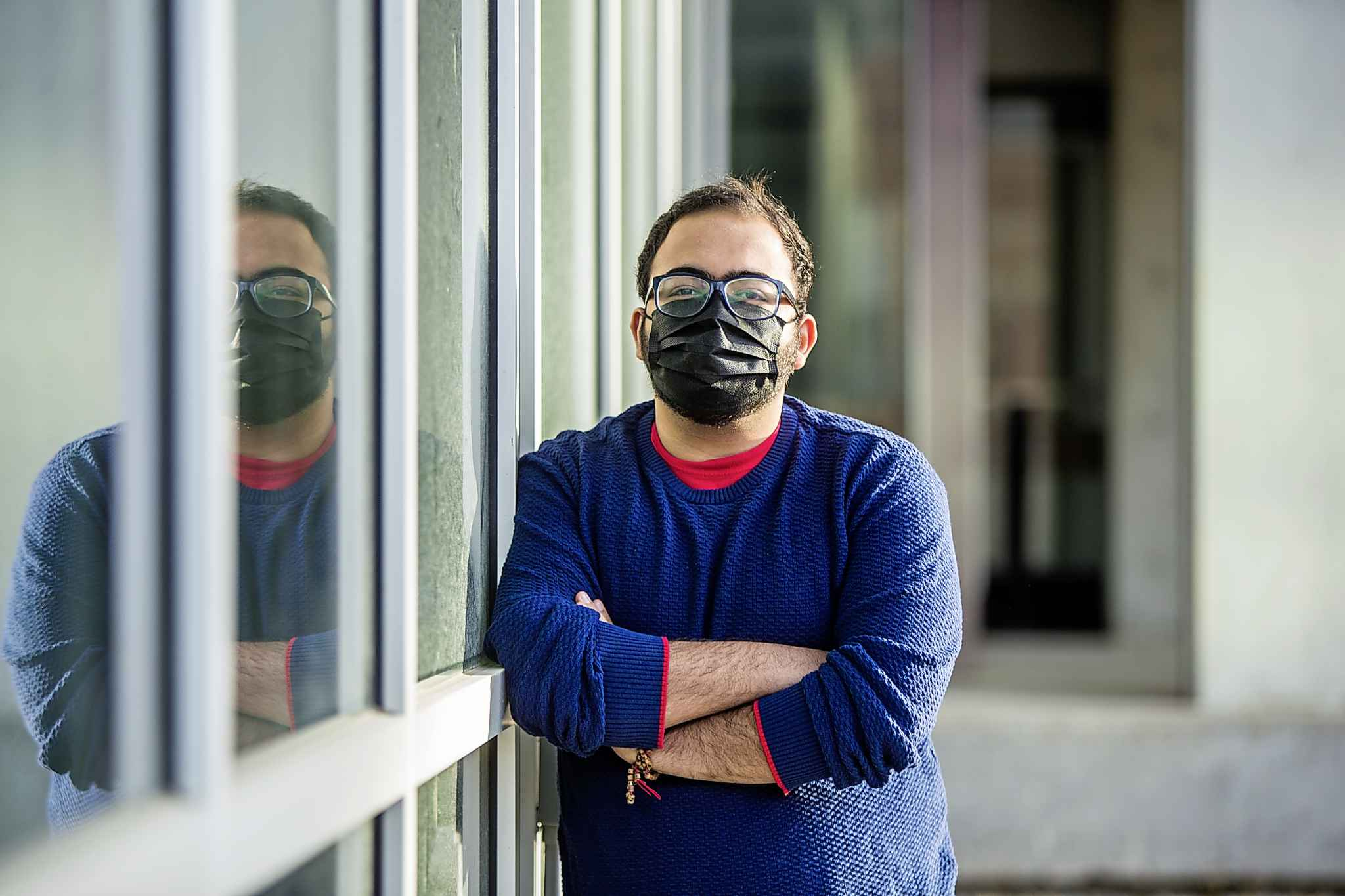 Nik Kapoor and other students in residence can see the light at the end of the semester's tunnel: four months into a school year unlike any other, final exams are nearing.