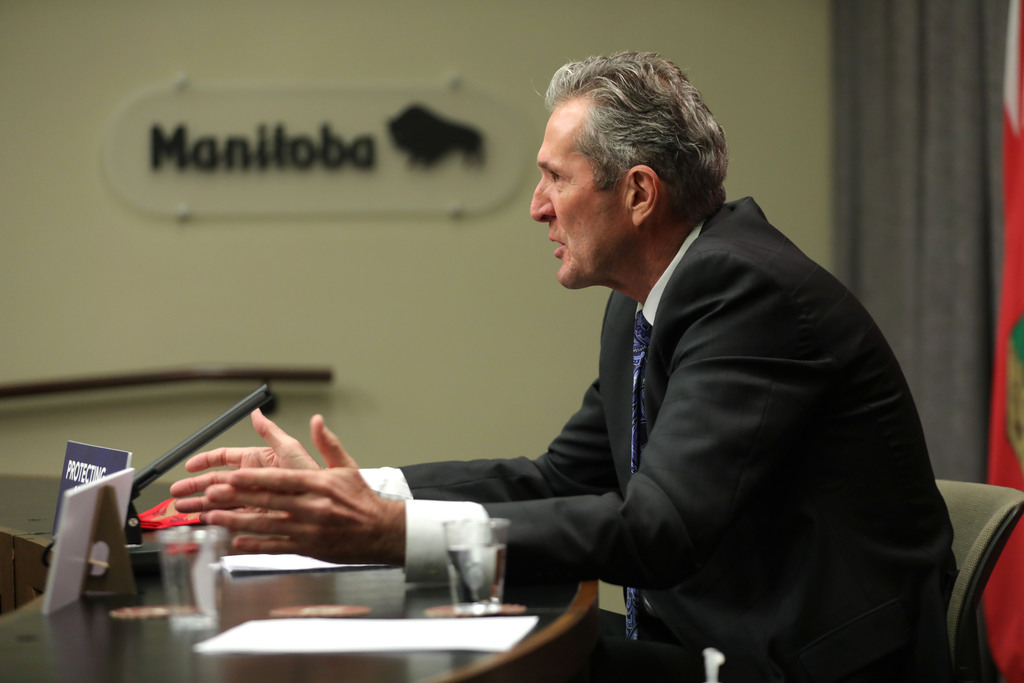 The province has procured all of the necessary supplies to administer two vaccine doses to every Manitoban, including a special freezer, syringes and enough personal protective equipment for staff, says Premier Brian Pallister. (Ruth Bonneville / Winnipeg Free Press)