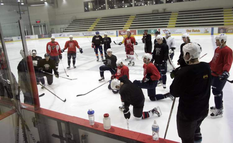 A collection of Winnipeg Jets and other local pros gathered at the MTS Iceplex this morning.
