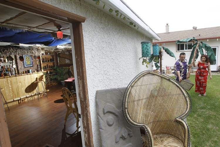 Ron Kerr and his wife Lesley have converted their garage into a full-fledged Tiki lounge.