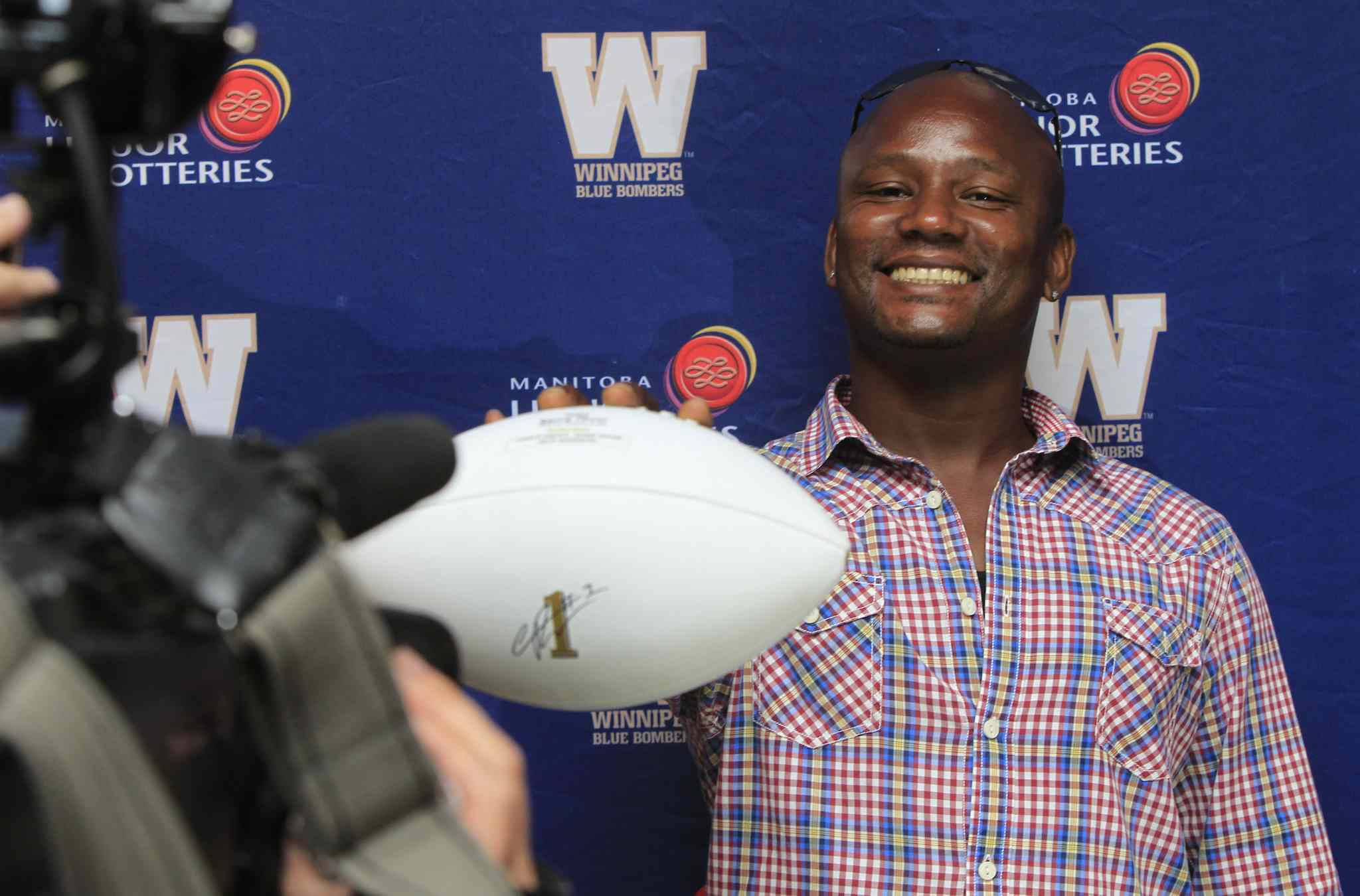 Charles Roberts, who sits fifth on the CFL's career rushing list, was thrilled to be inducted into the Blue Bombers' Hall of Fame.