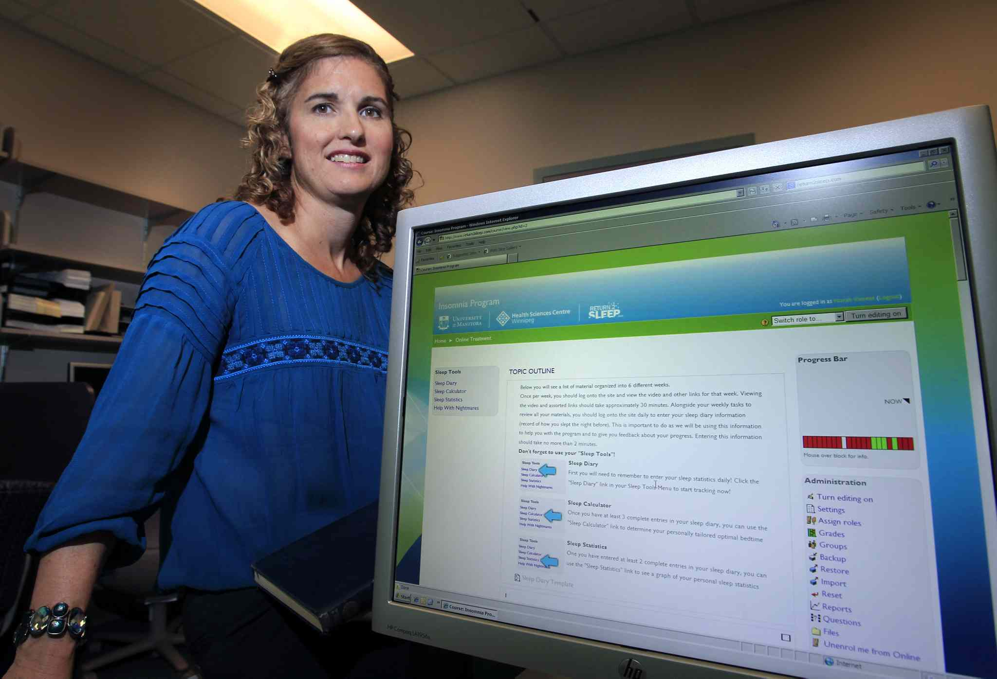 Dr. Norah Vincent will be speaking at a U of M symposium about a web program she developed to help people with insomnia.