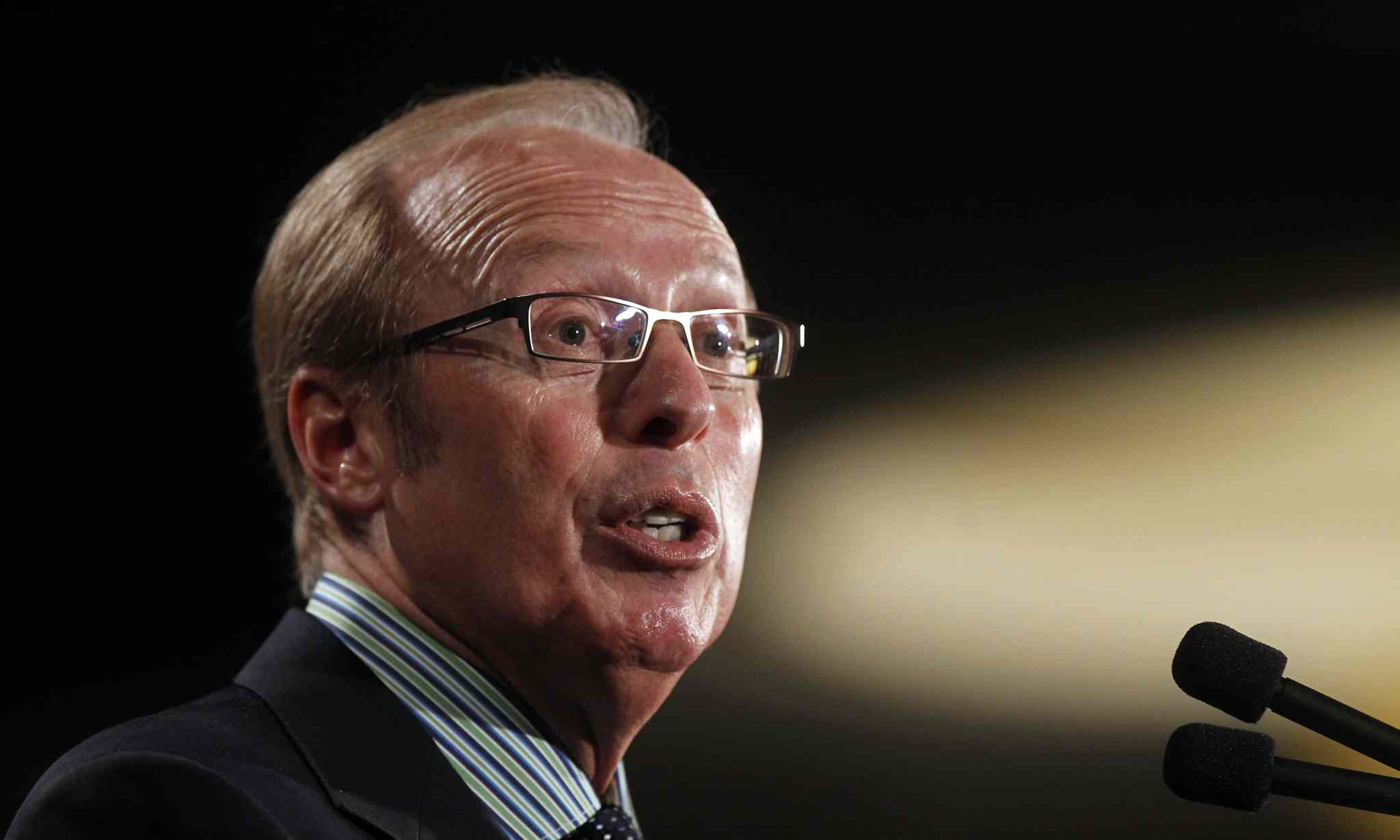 Mayor Sam Katz delivers his annual State of the City Address at the  Winnipeg Chamber of Commerce luncheon Friday at the RBC Convention Centre.