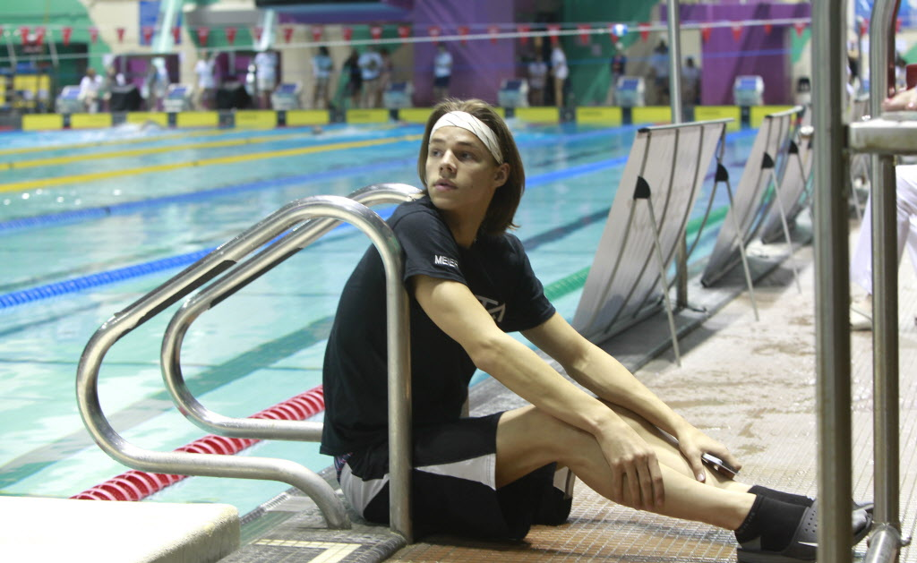 Simon Meier, 16, is one of the rising young Manitobans featured at the Canadian Age Group swim.