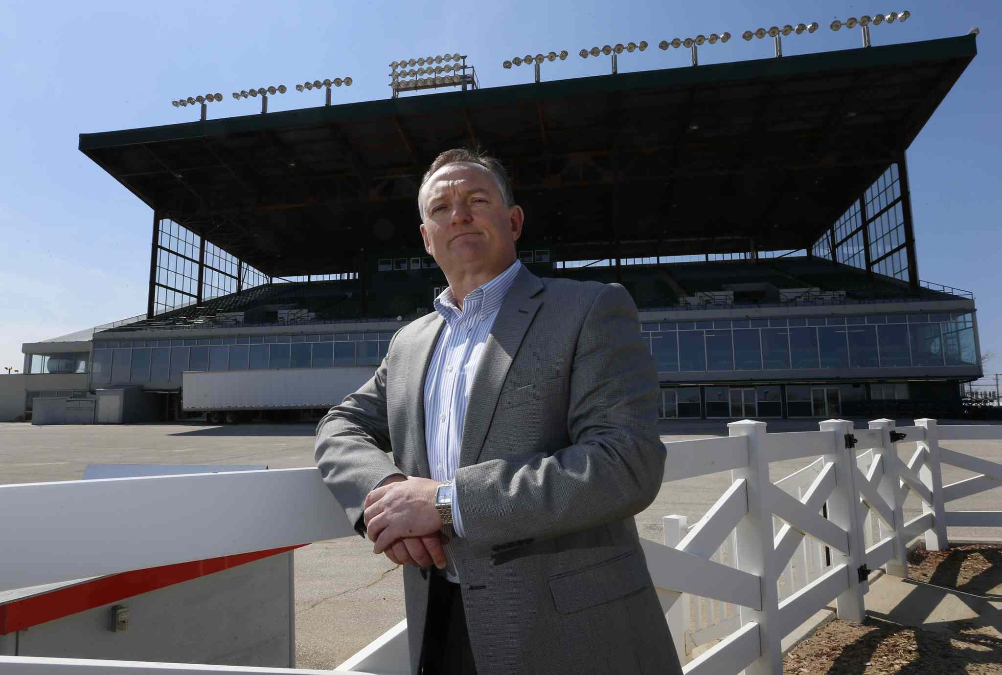 Darren Dunn, CEO, Assiniboia Downs by the grandstand.