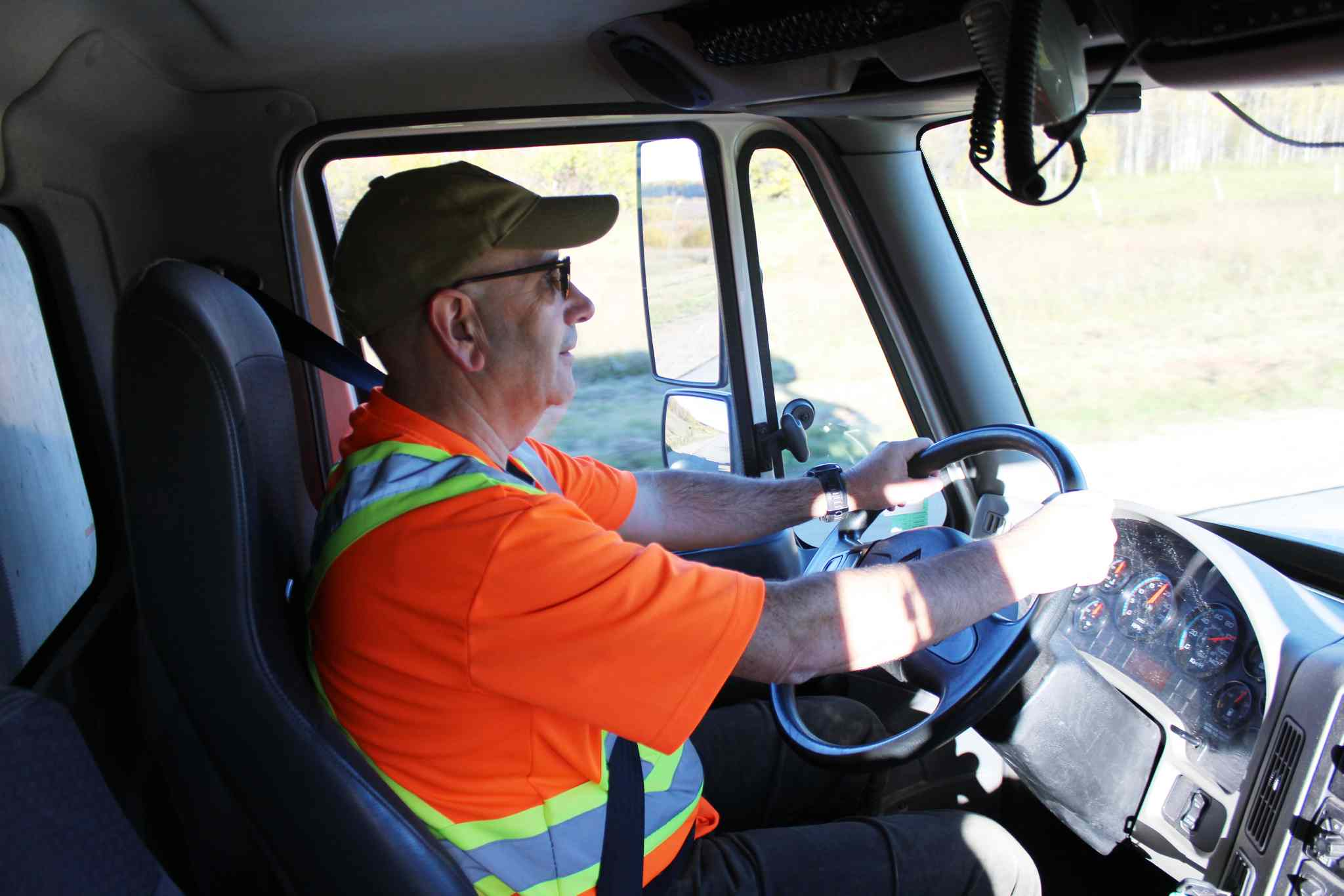 Volunteer driver Paul Brault is taking part in his first northern trip with Winnipeg Harvest.