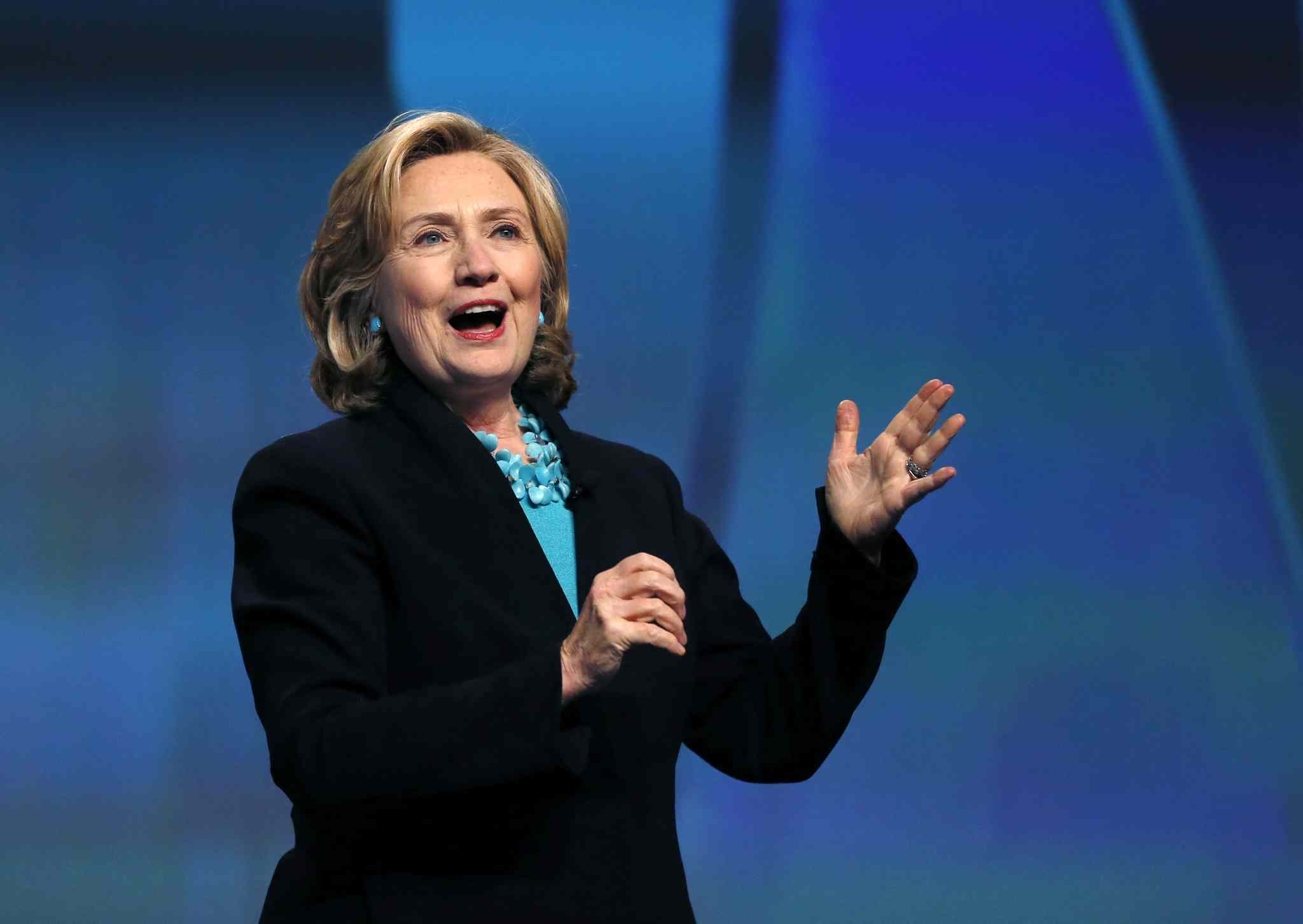 Hillary Clinton's luncheon speech this afternoon will be streamed online.