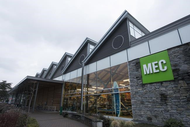 The outside of a Mountain Equipment Co-Op is seen in North Vancouver. Mountain Equipment Co-op says its board of directors has unanimously approved a deal in which Kingswood Capital Management will acquire MEC's assets, including the majority of its retail stores. THE CANADIAN PRESS/Jonathan Hayward