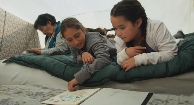 """A scene from """"Tia and Piujuq"""" is shown in this 2019 handout photo. A new Indigenous television channel featuring a programming slate that's entirely in the Inuit Inuktut language is set to launch on Monday. Billed as the first Indigenous-language channel in Canada, Uvagut TV will broadcast a variety of content including children's series, award-winning films and live programming. THE CANADIAN PRESS/HO - Arnait Video Productions, Isuma Distribution International"""
