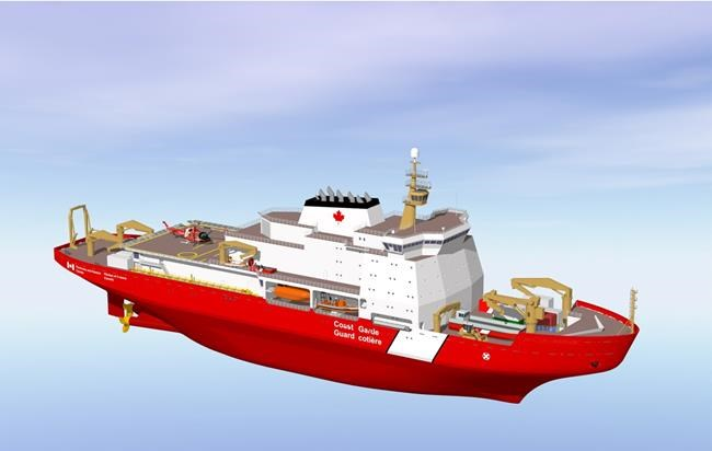 An artist's rendering of a new Canadian Coast Guard icebreaker is shown in a handout. THE CANADIAN PRESS/HO-Fisheries and Oceans Canada and the Canadian Coast Guard MANDATORY CREDIT