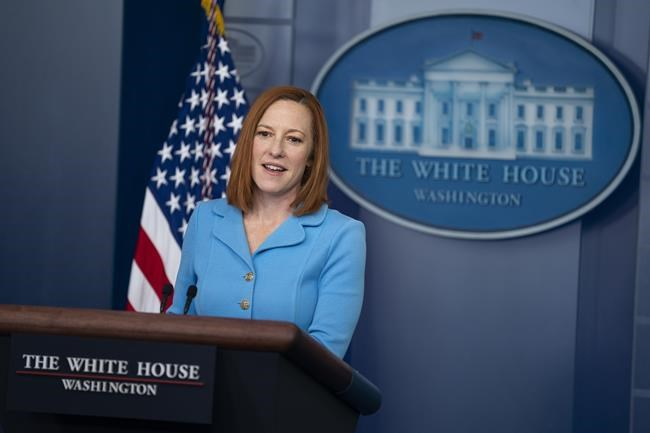 White House press secretary Jen Psaki speaks during a press briefing at the White House, Wednesday, June 2, 2021, in Washington. (AP Photo/Evan Vucci)