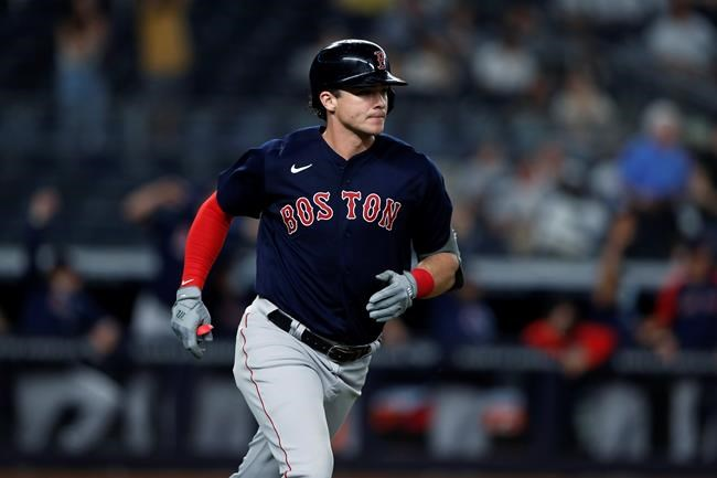 Boston Red Sox's Bobby Dalbec runs the bases after hitting a home run against the New York Yankees during the eighth inning of a baseball game Saturday, June 5, 2021, in New York. (AP Photo/Noah K. Murray)