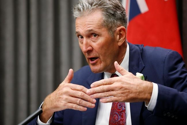 Manitoba Premier Brian Pallister announced nearly $2 million in cash and scholarships to encourage Manitobans to get vaccinated against COVID-19. (John Woods / Canadian Press files)