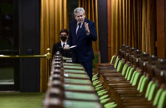 NDP member of Parliament Charlie Angus rises during question period in the House of Commons on Parliament Hill in Ottawa on Monday, April 19, 2021. The federal ethics watchdog may have let Prime Minister Justin Trudeau off the hook but that won't deter opposition parties from issuing a scathing report today on the WE Charity affair. THE CANADIAN PRESS/Sean Kilpatrick