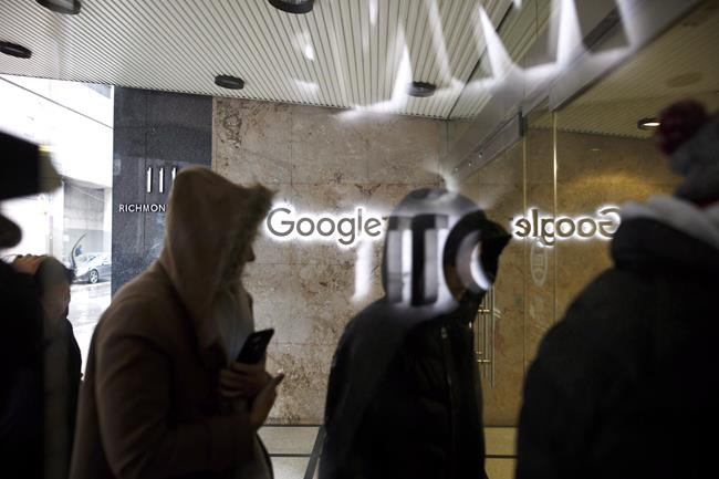 The Google office is shown in Toronto on November 1, 2018. THE CANADIAN PRESS/Cole Burston