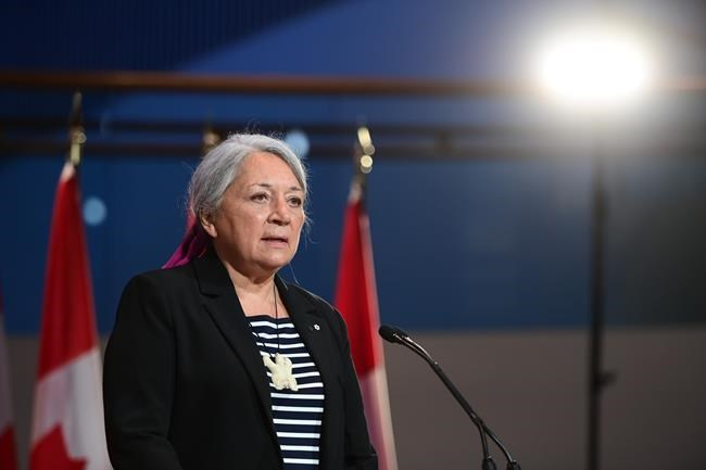 Mary Simon speaks during an announcement at the Canadian Museum of History in Gatineau, Que., on Tuesday, July 6, 2021. Simon, an Inuk leader and former Canadian diplomat, has been named as Canada's next governor general — the first Indigenous person to serve in the role. THE CANADIAN PRESS/Sean Kilpatrick
