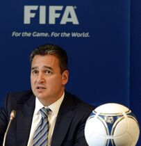 FILE - In this Friday, July 27, 2012 file photo, FIFA Ethics Committee member Michael Garcia attends a press conference in Zurich, Switzerland. Garcia, an American lawyer who led the investigation into the 2018 and 2022 World Cup bid process resigned from the FIFA ethics committee on Wednesday, Dec. 17, 2014, in protest over the handling of his findings. (AP Photo/Keystone, Walter Bieri, File)