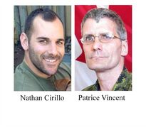 Warrant Officer Patrice Vincent and Cpl. Nathan Cirillo are shown in this undated combination photo. The Oct. 22 attack on Parliament Hill and targeted killing of soldiers Nathan Cirillo in Ottawa and Patrice Vincent in Saint-Jean-sur-Richelieu, Que., are the overwhelming choice as The Canadian Press News Story of the Year for 2014. THE CANADIAN PRESS/ho