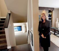 Qualico new home sales consultant Wendy Janssen at 23 Bellflower Road (below).