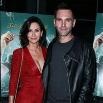 Courteney Cox and Johnny McDaid at LA premiere of 'Just Before I Go'