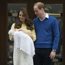 The Duke and Duchess with the unnamed baby