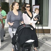 Kim Kardashian, Kourtney Kardashian, North and Penelope