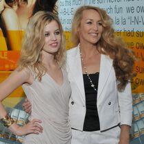 Georgia May Jagger and Jerry Hall