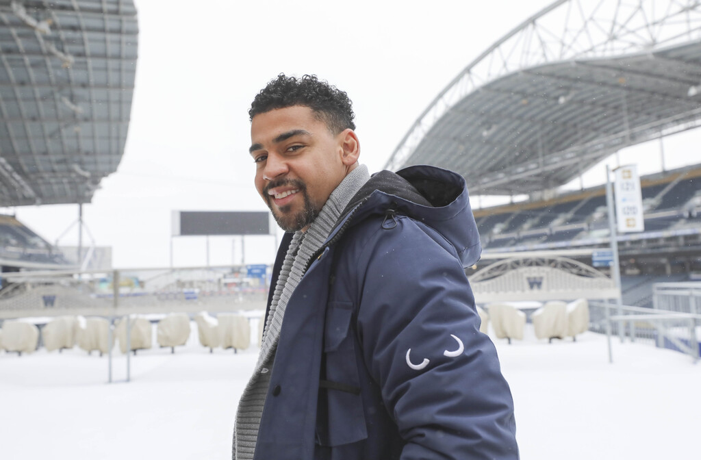 Andrew Harris won the league's rushing title the past three seasons and is 962 rushing yards shy from becoming the first Canadian to hit 10,000 in a career. (Ruth Bonneville / Winnipeg Free Press)