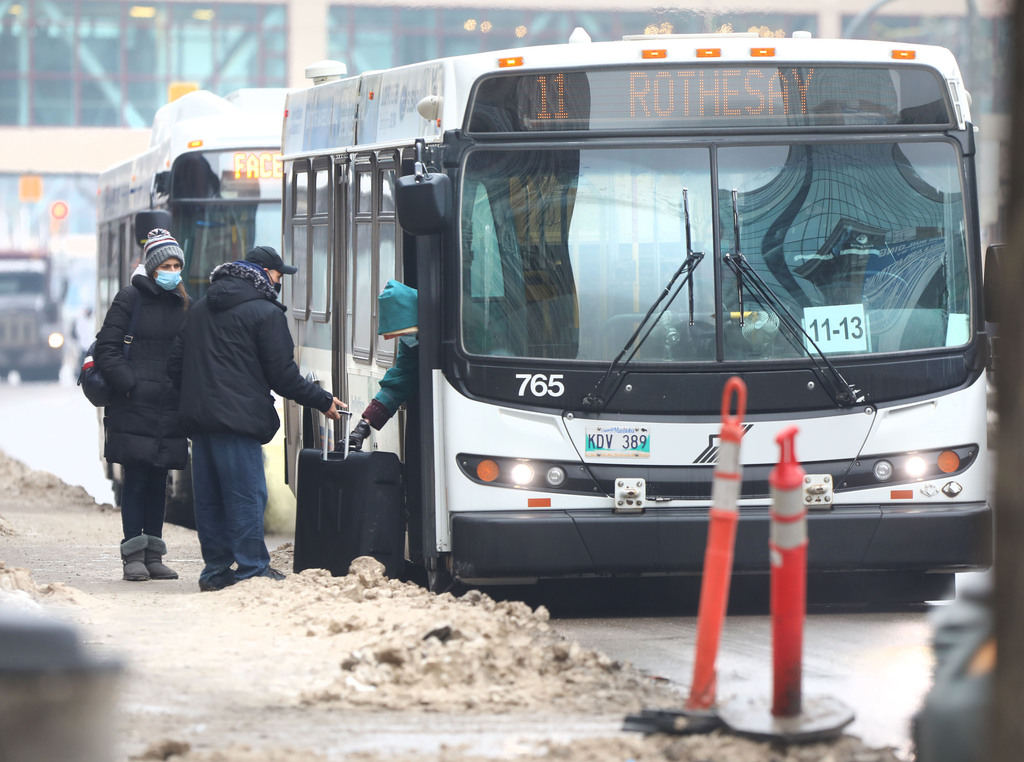 The province lists on its website public exposure locations, such as on transit buses or on flights, or other places where it deems the public could have been at risk of being in close contact with someone who tested positive. (Ruth Bonneville / Winnipeg Free Press files)