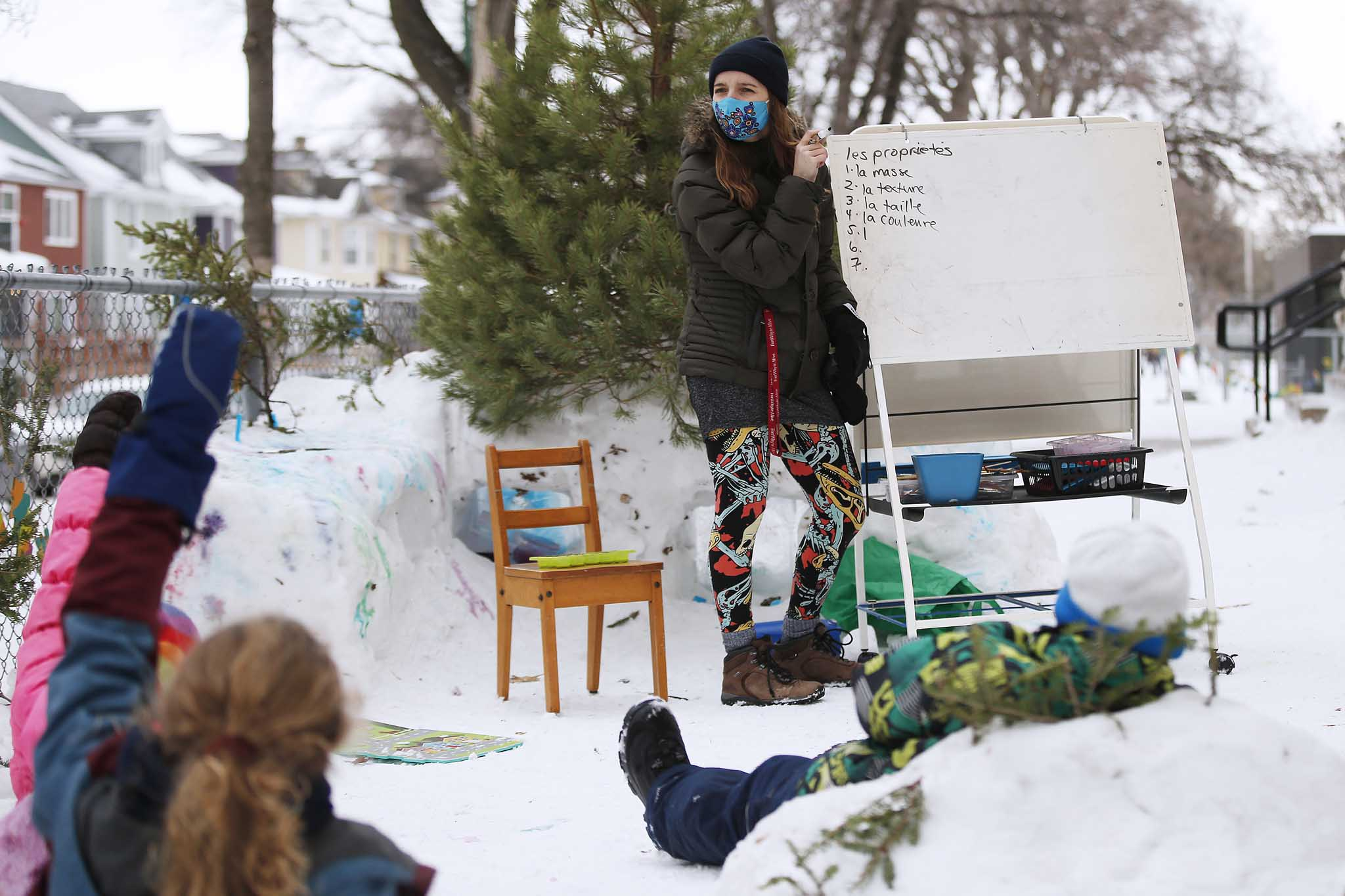 The success of an initial outdoor period has led to daily snow class lessons.