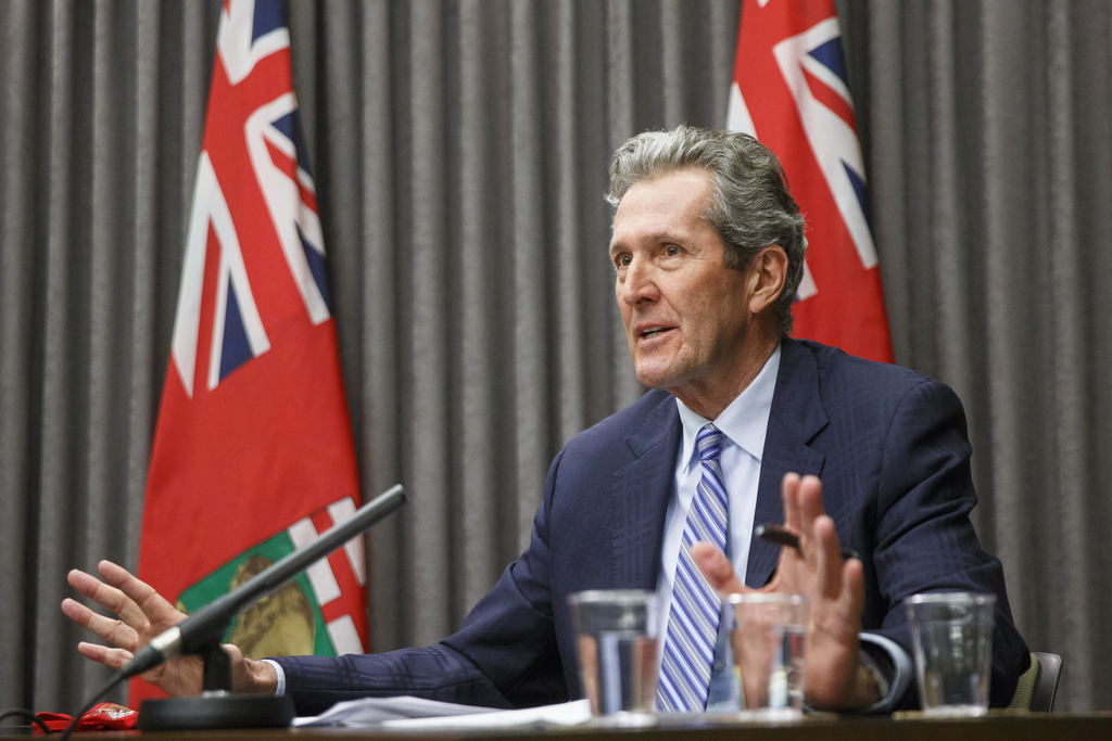 The province is making progress in controlling COVID-19 and wants changes to public health orders to be sustainable, says Premier Brian Pallister. (Mike Deal / Winnipeg Free Press)