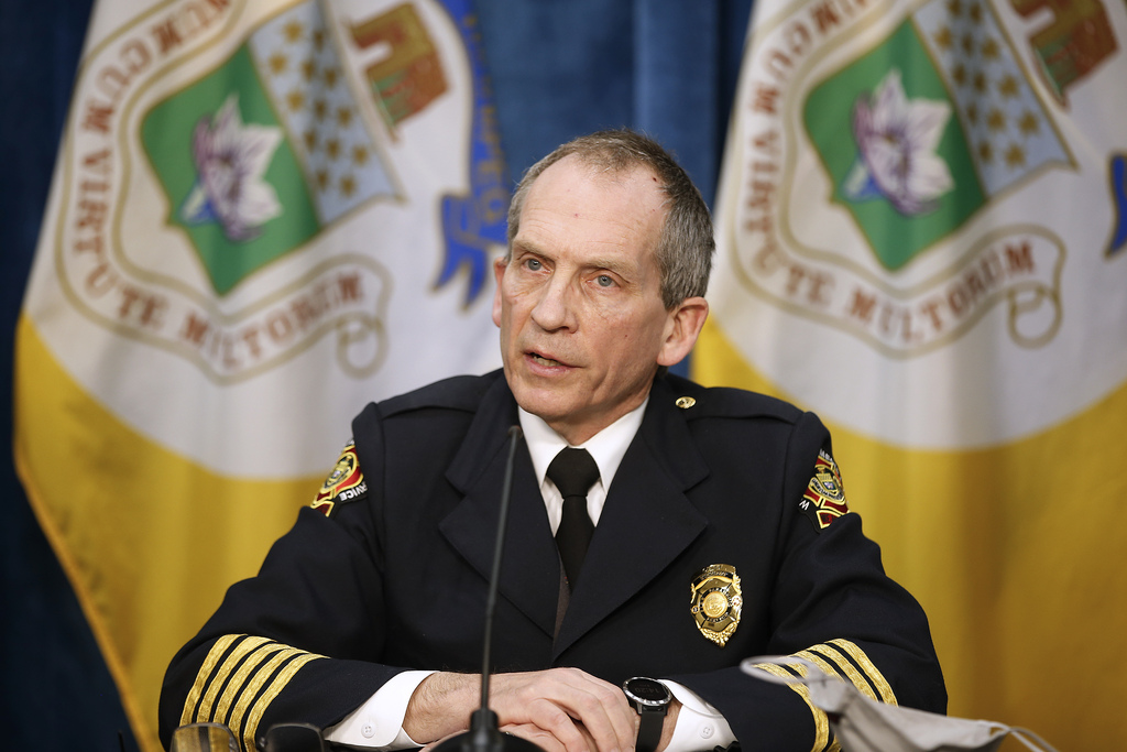 Winnipeg Fire and Paramedic Service Chief John Lane says some aspects of the report  will be dealt with internally and are not for public discussion. (John Woods / Winnipeg Free Press)