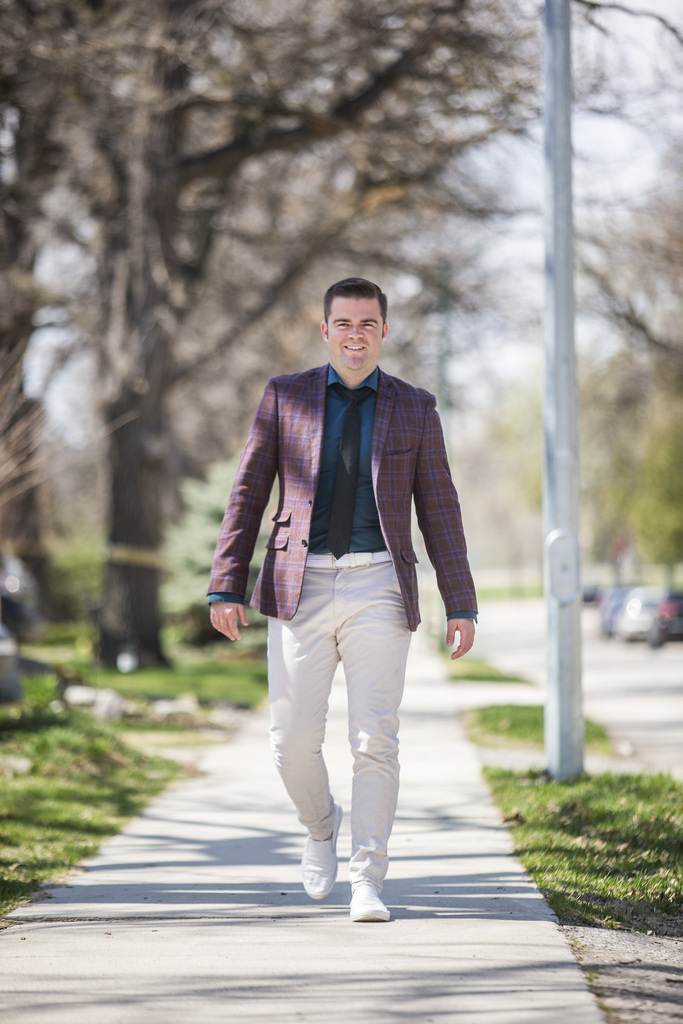 Botha retains his sense of style whether he's out or appearing in front of cameras. (Mikaela MacKenzie / Winnipeg Free Press)