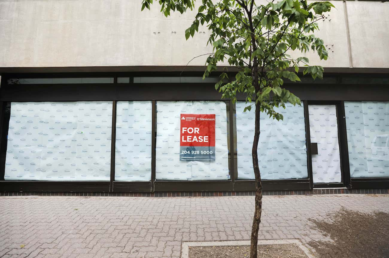 Almost 50 storefront businesses have permanently closed since the start of the pandemic. (Ruth Bonneville / Winnipeg Free Press files)