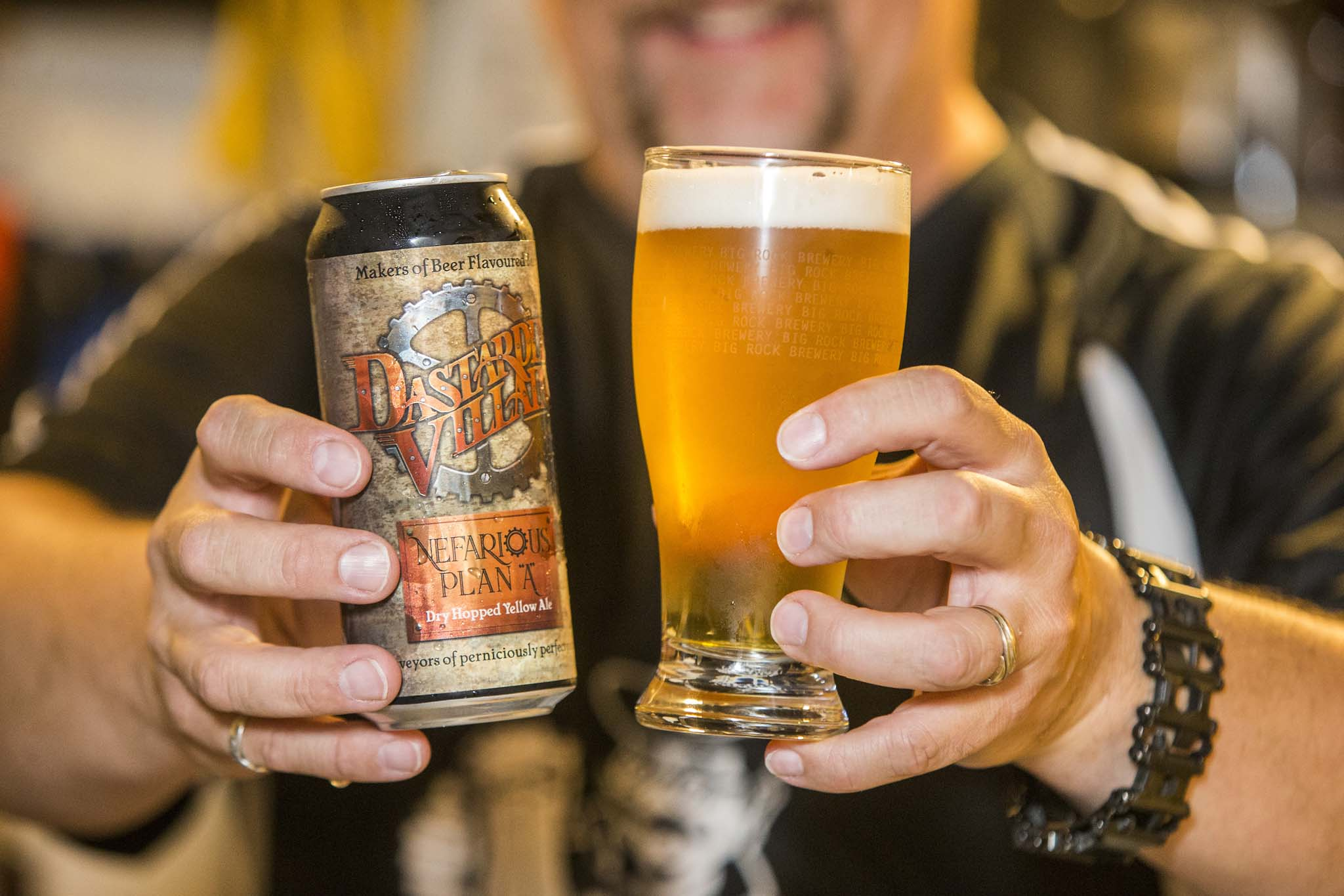 Dastardly Villain's first commercial release, the Nefarious Plan A yellow ale, was launched earlier in August