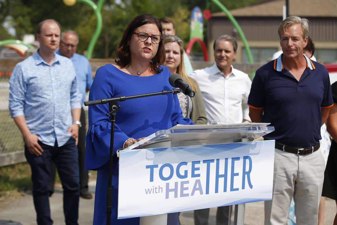 One week after Pallister announced he'd step down before the next election, Tuxedo MLA Heather Stefanson resigned from cabinet to become the first declared candidate for the leadership of the Progressive Conservative party. (John Woods / Winnipeg Free Press files)