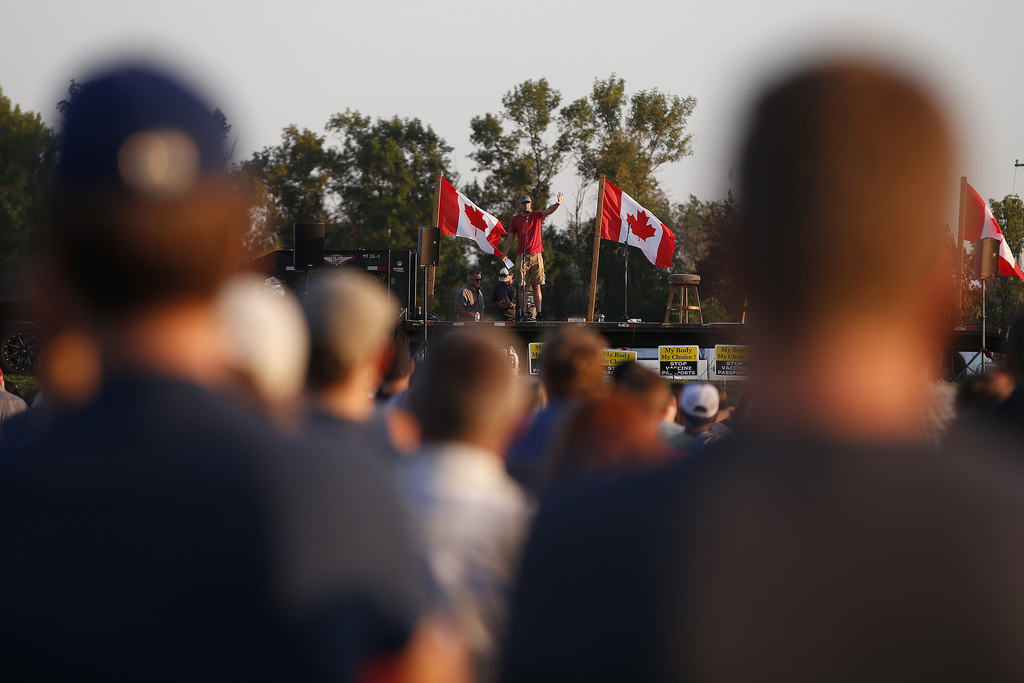 People are frustrated with the province's health orders and the rallies were a natural response of people feeling like their concerns haven't been heard, says Winkler Mayor Martin Harder. (John Woods / Winnipeg Free Press)