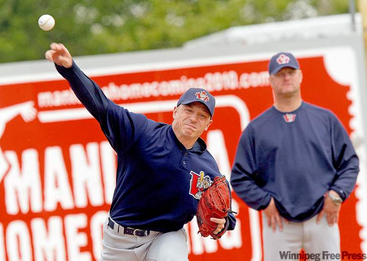 Ace Walker works out Thursday at Canwest Park under the watchful eye of Rick Forney.