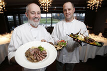 Owner Gord Harris (left) and chef Neil Higginson at Tapastry , which is located in the clubhouse at Niakwa Country Club.  Free Press restaurant critic Marion Warhaft delivers her verdict on Winnipeg's best of the year.