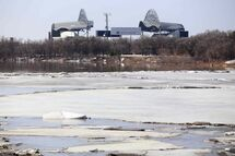 Ice on the Red River has contributed to the river passing its expected crest.