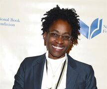 FILE - This Wednesday, Nov. 19, 2014 file photo shows Jacqueline Woodson, winner of the National Book Award for Young People's Literature, attending the 65th Annual National Book Awards at Cipriani Wall Street in New York. Woodson addressed Daniel Handler's (aka