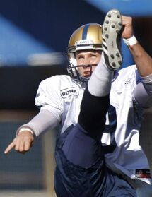 Incumbent Bombers punter Mike Renaud will be facing stiff competition at camp.