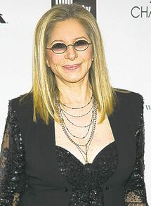 Barbra Streisand at the 40th Annual Chaplin Award gala.