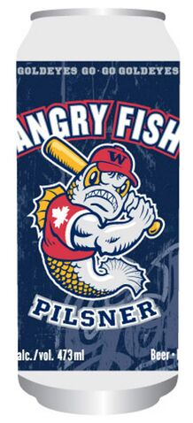 Angry Fish Pilsner will be available at Goldeyes games as well as Manitoba Liquor Marts and beer vendors across the province.